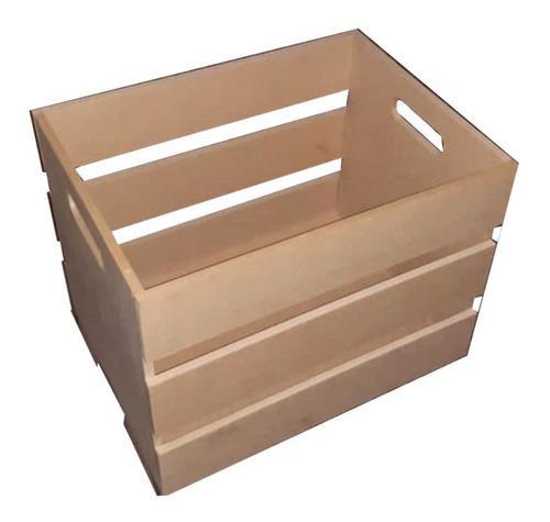 Caja Para Juguetes 40x30x30cm Con Letras Toys Mdf Crudo