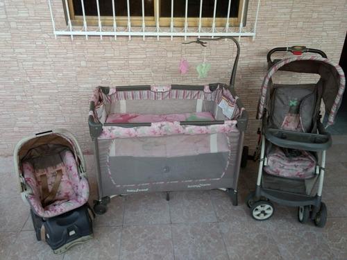 Combo Corral, Coche Y Silla De Carro Para Niña Babytrend