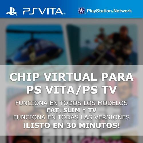Chip Virtual Para Playstation Vita Y Ps Tv + 4 Regalos
