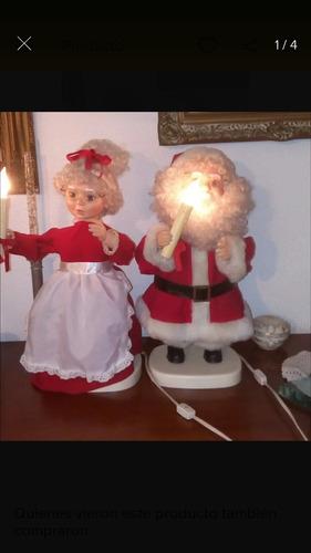 Muñecos De Navidad Pareja Santa Claus Leer Descripción