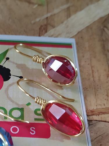 Bellos Zarcillos Con Cristales Oferta