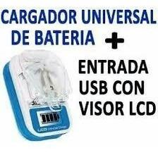 Cargador Universal De Baterias Puerto Usb Con Visor Ubicador