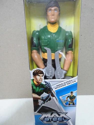 Figura Accion Max Steel Mision Selva Original Mattel