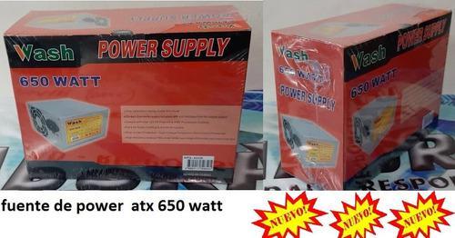 Fuente De Poder Atx 650 Watt Nueva