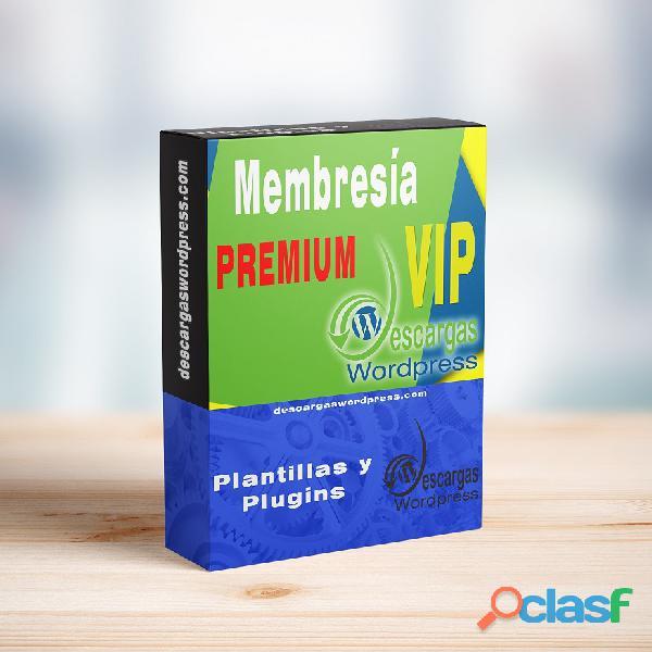 Membresía Mensual Descargas Wordpress