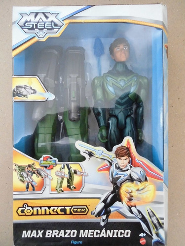 Muñeco Figura Accion Max Steel Brazo Mecanico Mattel