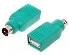 Adaptador Ps2 Macho A Usb Hembra Compatible Teclado Y Mouse