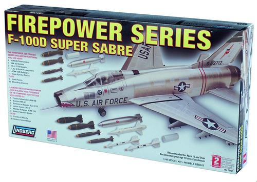 F-100d Super Sabre Plástico 1/48. Lindberg Usa.