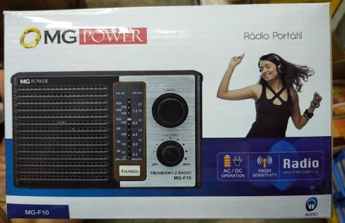Radio Am/fm Mg Power Para Pilas O Corriente (4 Bandas)