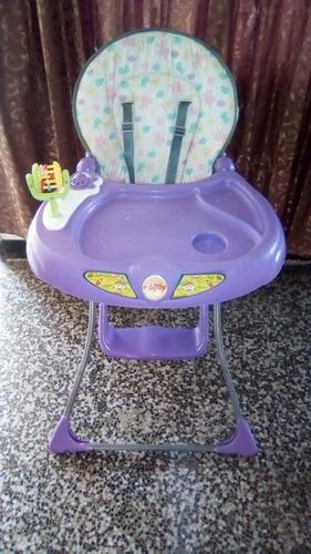 Silla/mesa De Comer Para Bebe Plegable Con Música Y