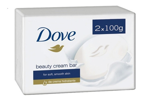 Jabon Dove En Barra De Crema Hidratante 2x100 Importado