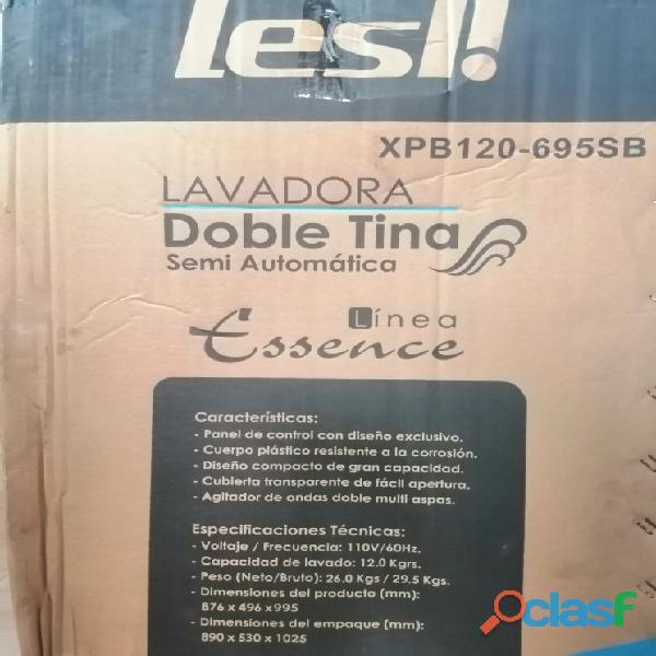 Lavadora Semi Automática doble tina Marca LESL! 12kg Línea
