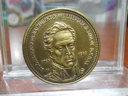 Medalla Bicentenario Del Nacimiento Del Libertador