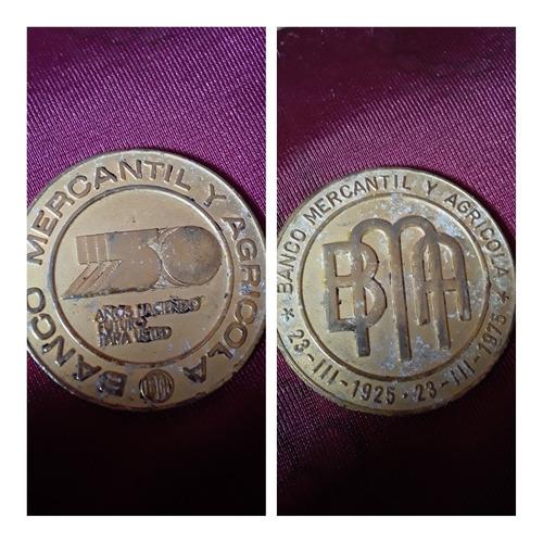 Medalla Conmemorativa Banco Mercantil