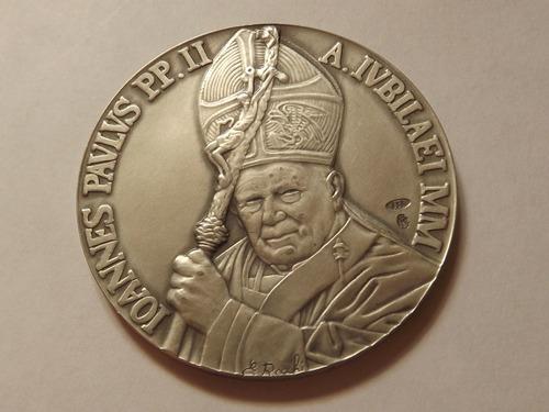 Medalla De Plata Del Papa Juan Pablo Ii Por Jubileo Año