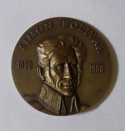 Medalla Sesquicentenario Muerte Simon Bolivar