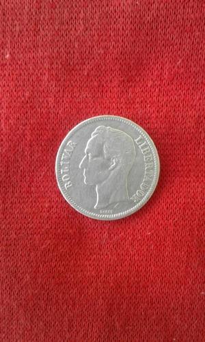 Moneda 1 Bolivar De Plata Lei 835 De Venezuela Año