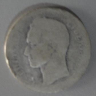 Moneda De 1 Bs. De Plata, Ley 900, Año .