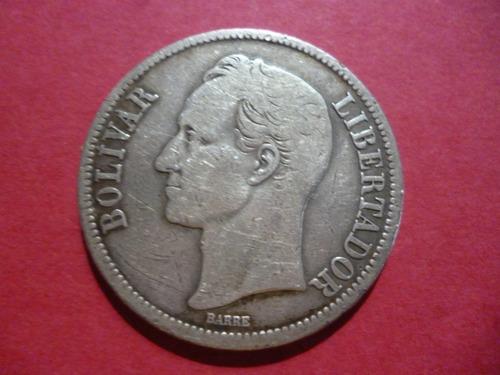 Moneda De Plata - 5 Bolívares, Año  Gramos -ley