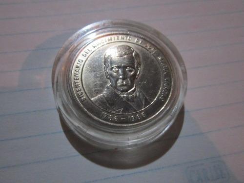 Moneda De Plata Conmemorativa De José Maria Vargas