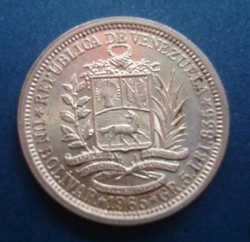Moneda De Plata De 1 Bolivares Año: Gramos Ley 835