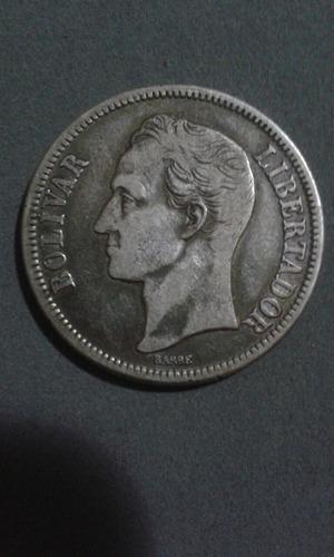 Moneda De Plata De 2 Bolívares Año