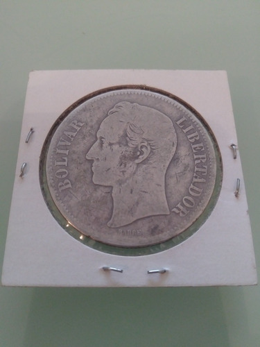 Moneda De Plata De 5bs 25 Gramos De Plata Lei 900 Año