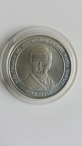 Moneda De Plata Del Bicentenario De José María Vargas