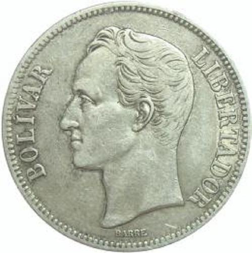 Moneda De Plata Lei grs 5 Bolivares Año .