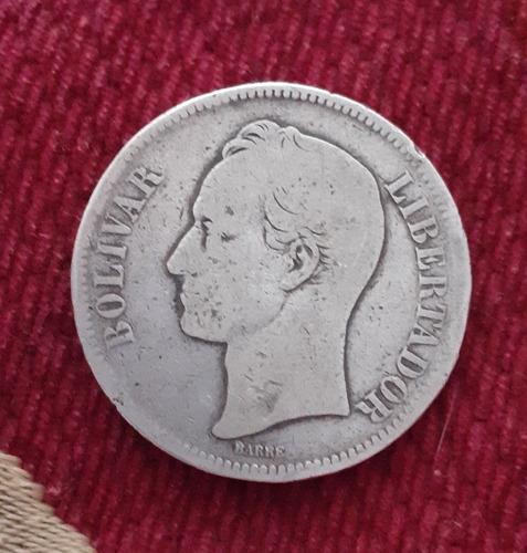 Moneda Plata 5bs/25 Gramos Leí 900 Año