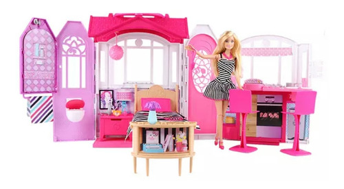 Casa Glam Barbie Original De Mattel