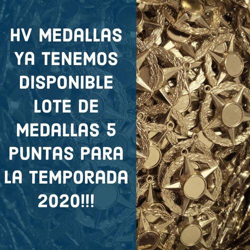 Hv Medallas 5 Puntas Bachiller + Antorcha