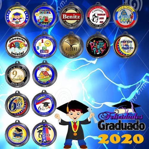 Medallas Deportivas Y Graduación Pack 5