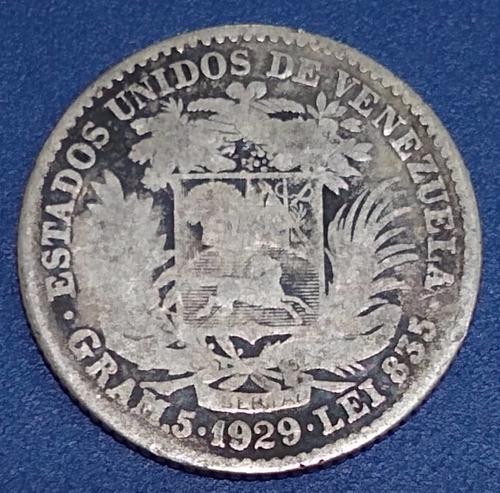 Moneda De Plata De 1 Bolívar Del Año 1929