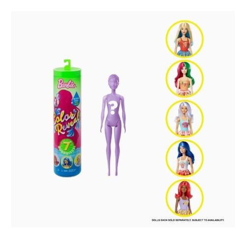 Muñeca Barbie De Color Reveladora Con 7 Sorpresas