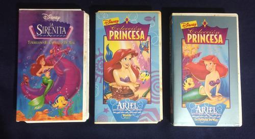 Película La Sirenita Disney Originales Vhs Colección Ref.