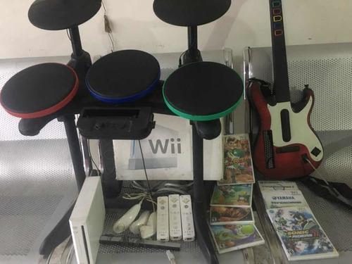 Consola Videojuegos (wii) Guitarra Y Bateria (guitar Hero)