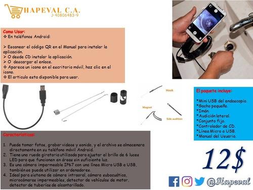 Endoscopio Usb, Cámara De Inspección De Boroscopio De