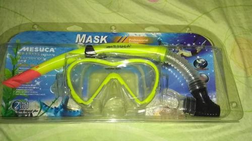 Máscara + Snorkel Para Buceo Execelente Calidad Importado