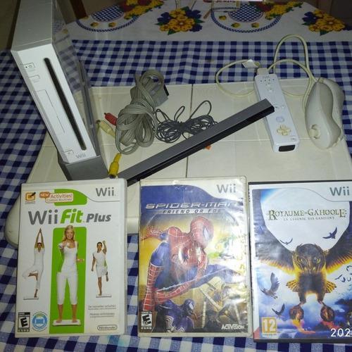 Nintendo Wii Con Alfombra Usado Con 3 Juegos (100$)