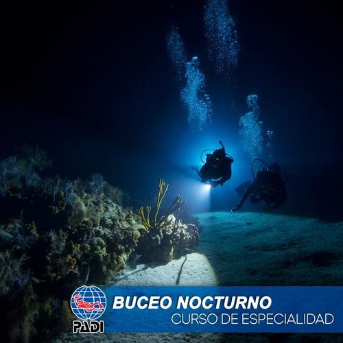 Padi Especialidad Buceo Nocturno Curso De Buceo