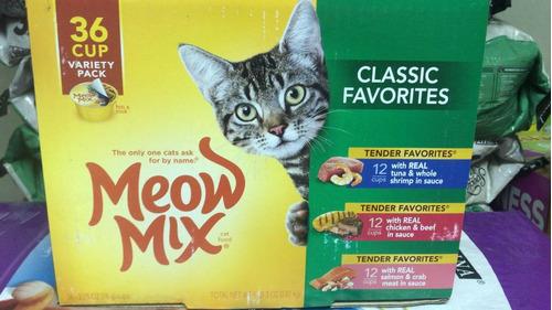 Alimento Enlatado Para Gatos Meow Mix Caja 36 Piezas En35v