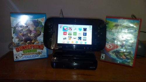 Nintendo Wii U Negro 4 Juegos