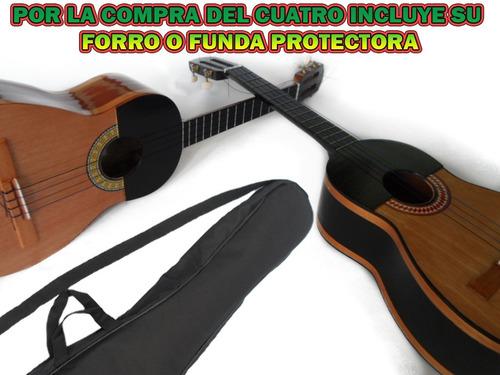 Oferta De Cuatro Sonoro Con Su Forro Protector En Cedro