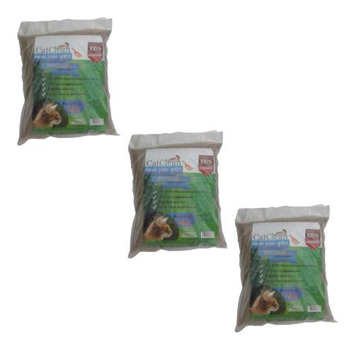 Pack De 3 Unidades De Arena Para Gatos Catclean Premium 6kg