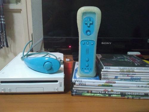 Wii Blanco Con Puerto Para Controles De Gc