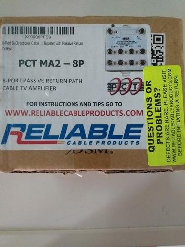 Amplificador De Video Para Tv Por Cable. 8 Puertos. + 4.5db