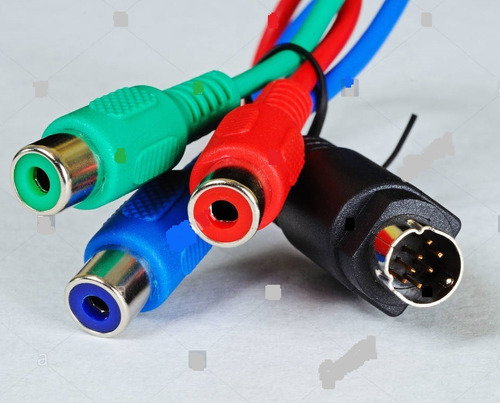 Cable S-video 7 Pines Macho A 3 Rca Hembra