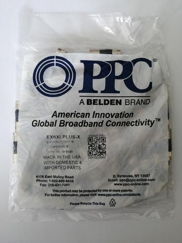 Conectores Rg6 De Compresion, Ppc, Made In Usa (bolsa De 50)