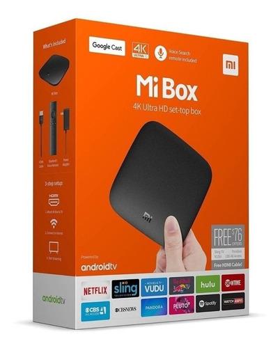 Smart Tv Xiaomi Mi Box S 4k Ultra Hd Con Control Cable Hdmi
